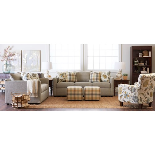 Trisha Yearwood Home Collection by Klaussner Atlanta Stationary Living Room Group