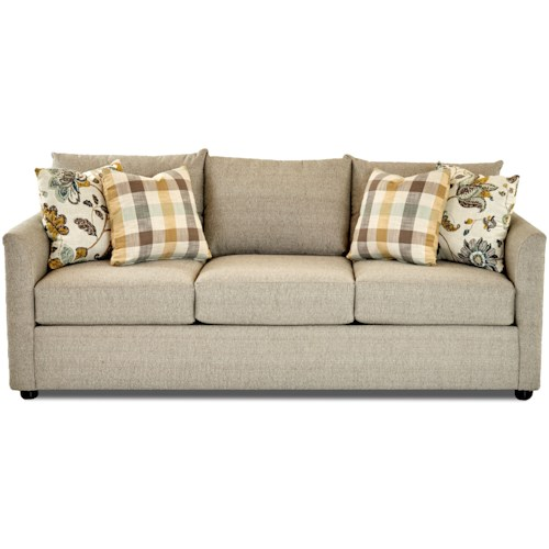 Trisha Yearwood Home Collection by Klaussner Atlanta Transitional Sofa with Tuxedo Arms