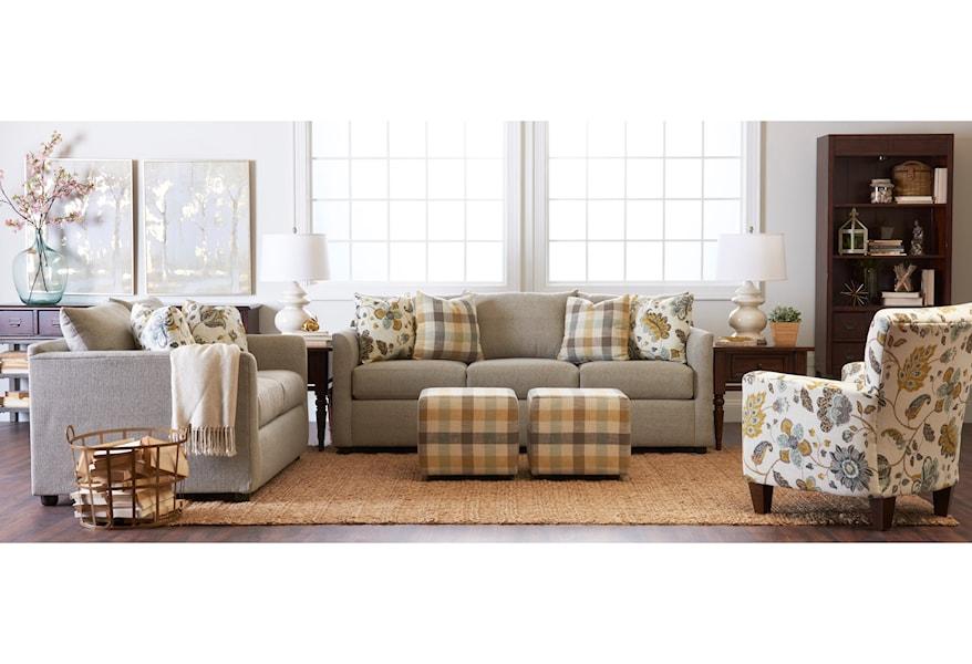 Klaussner Atlanta K27800 S Transitional Sofa with Tuxedo ...