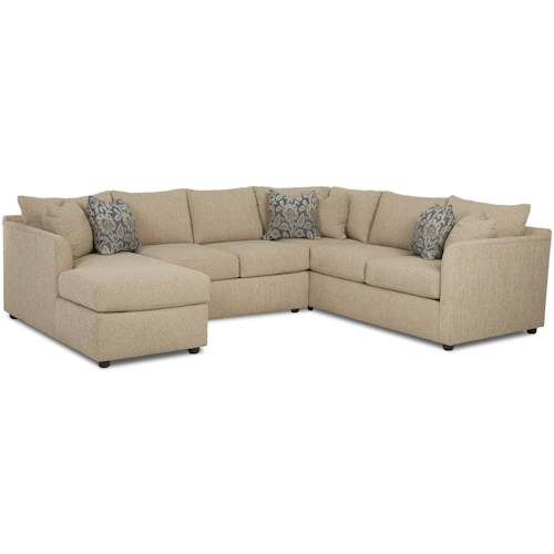 Trisha Yearwood Home Collection by Klaussner Atlanta Transitional Sectional Sofa with Chaise