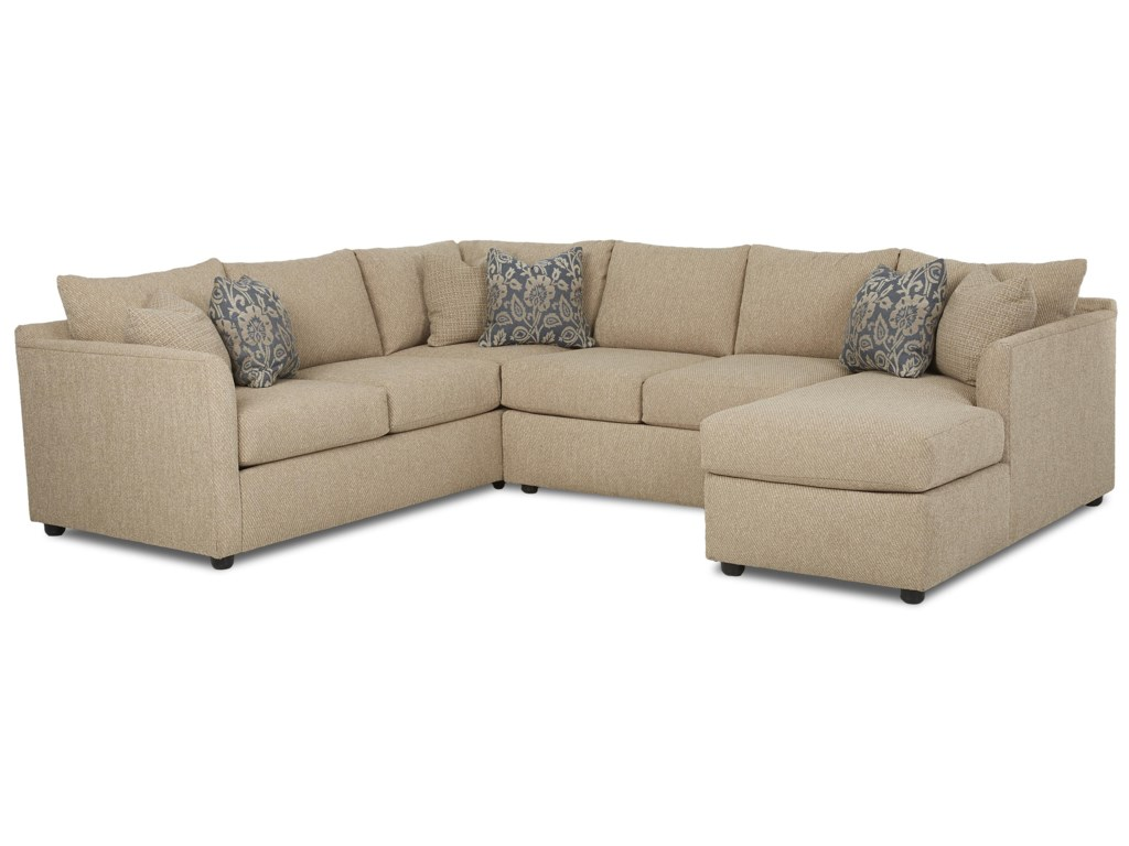 Trisha Yearwood Home Atlanta Transitional Sectional Sofa With Chaise