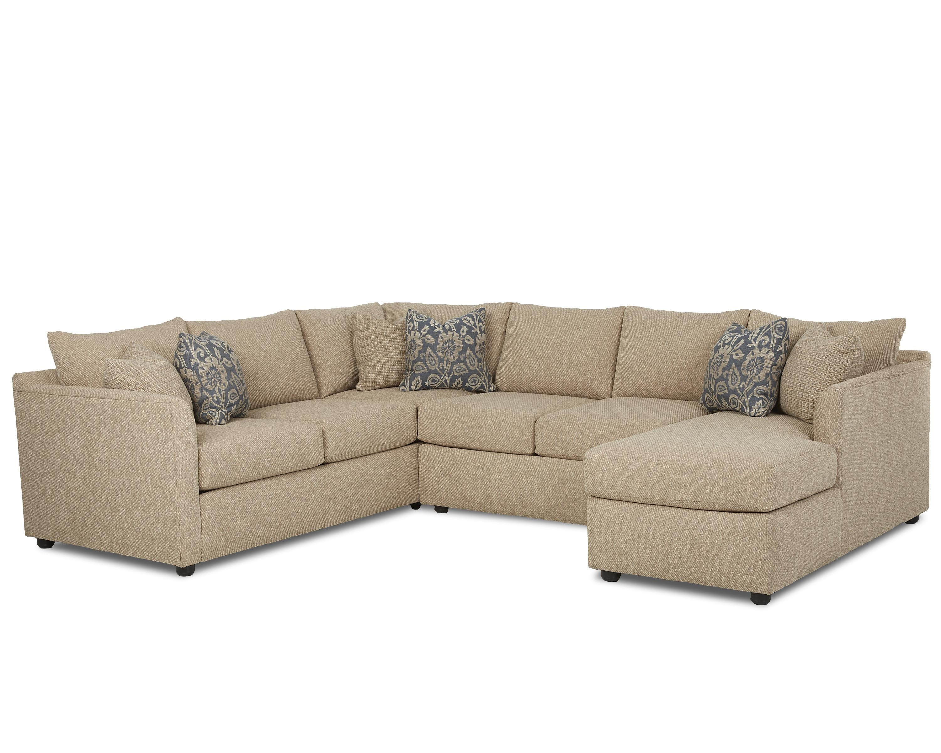 Atlanta Transitional Sectional Sofa With Chaise By Trisha Yearwood Home  Collection By Klaussner