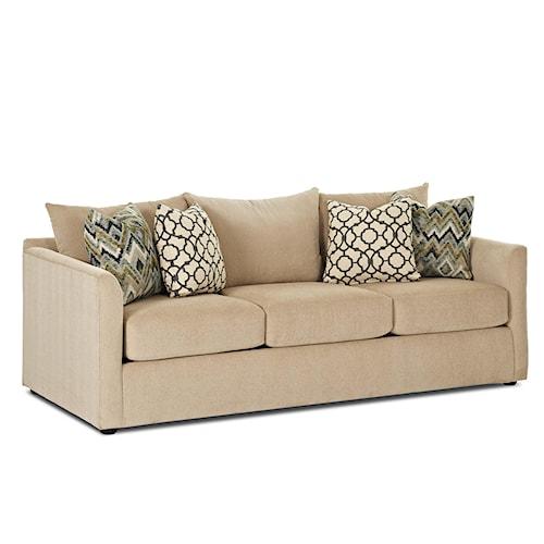Trisha Yearwood Home Atlanta Transitional Sofa with Tuxedo Arms