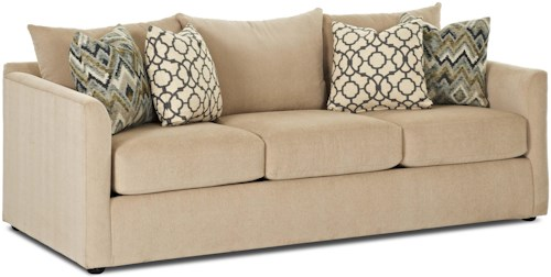 Trisha Yearwood Home Collection by Klaussner Atlanta Transitional Sleeper Sofa w/ Enso Memory Foam Mattress
