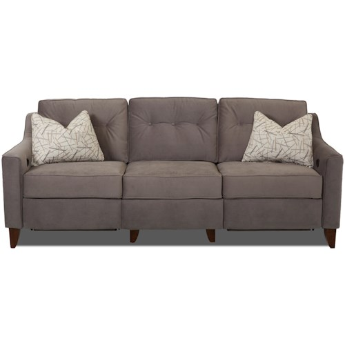 Trisha Yearwood Home Collection by Klaussner Audrina Contemporary High Leg Power Reclining Sofa