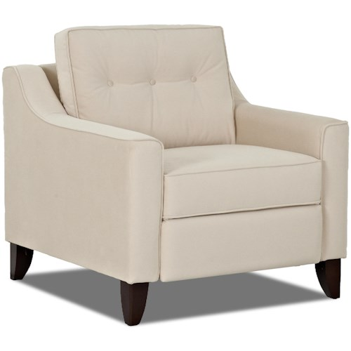 Trisha Yearwood Home Collection by Klaussner Audrina Contemporary Power High Leg Reclining Chair with Tufted Seat Back