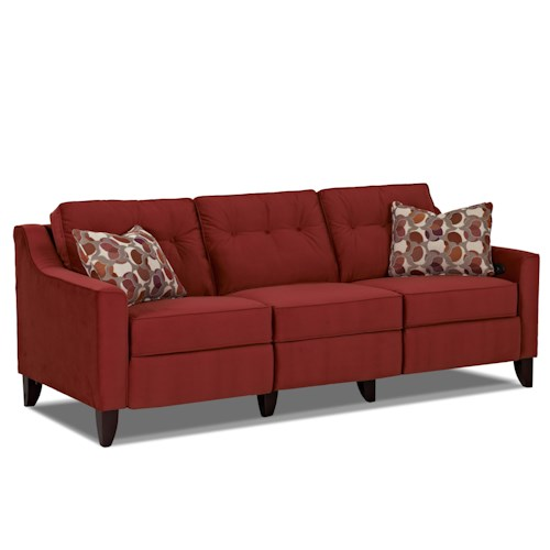 Trisha Yearwood Home Audrina Contemporary High Leg Power Reclining Sofa