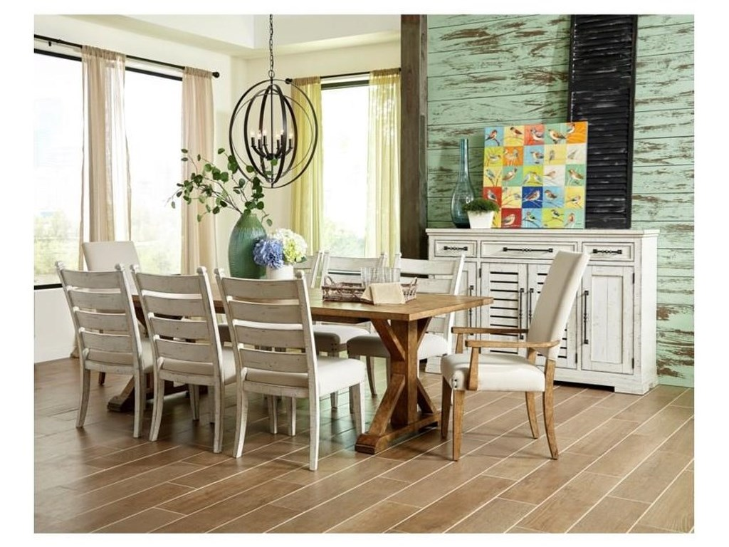 Trisha Yearwood Home Collection by Klaussner Coming Home9 PC Dining Room Set