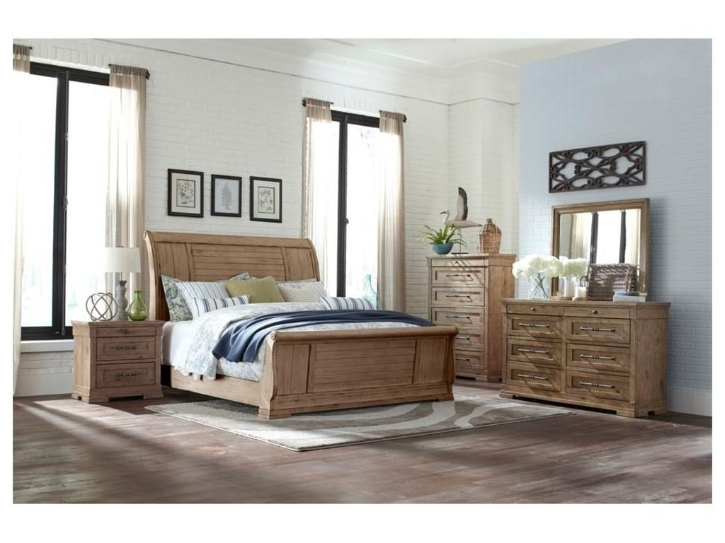 Trisha Yearwood Home Collection by Klaussner Coming HomeKing Sleigh Bed Package