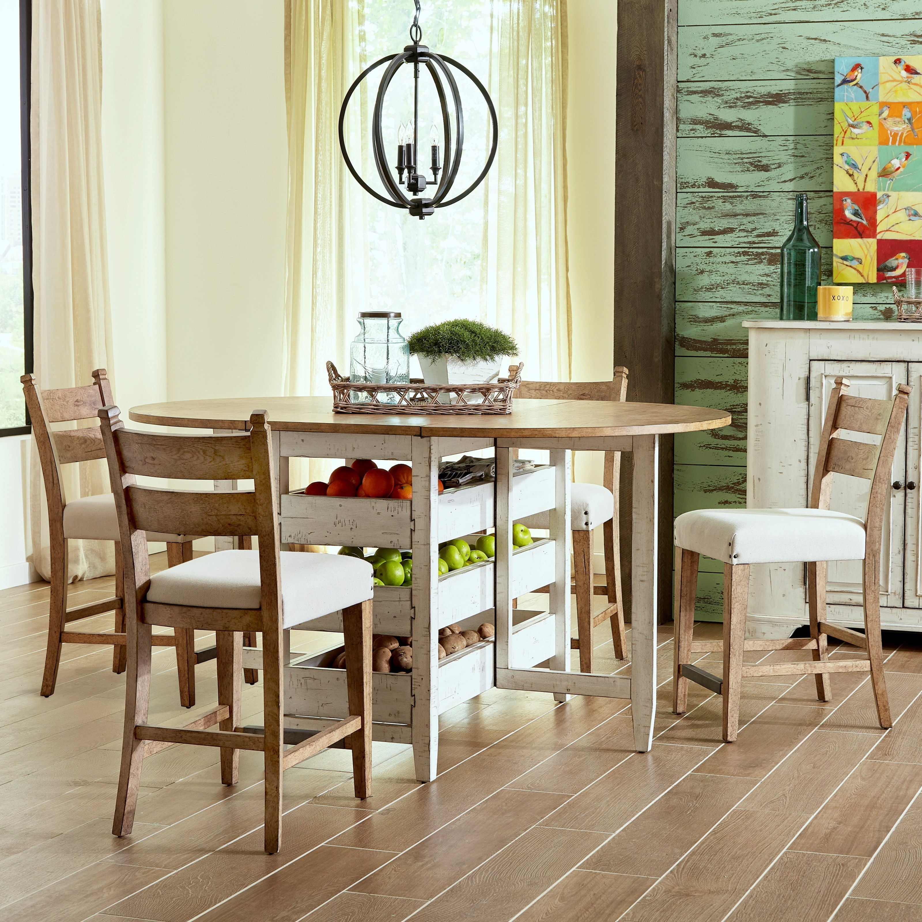 Trisha Yearwood Home Collection By Klaussner Coming Home5 Pc Dining Set ...
