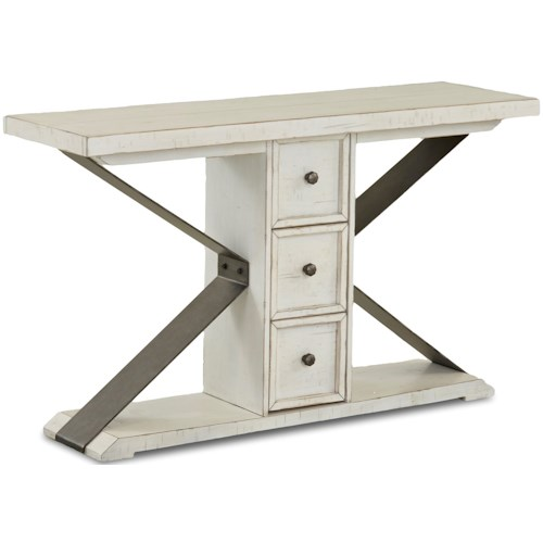 Trisha Yearwood Home Collection by Klaussner Coming Home Friendship Three Drawer Sofa Table