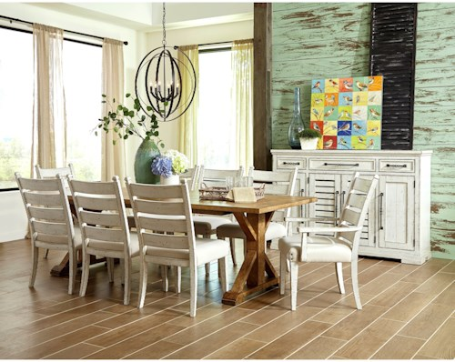 Trisha Yearwood Home Collection by Klaussner Coming Home Ten Piece Formal Dining Room Group