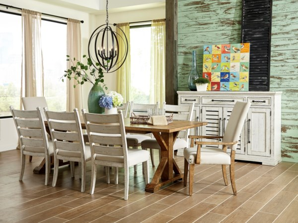 Trisha Yearwood Home Collection By Klaussner Coming Ten Piece Formal Dining Room Group