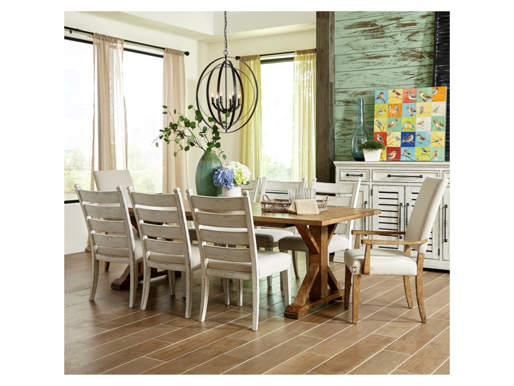 Trisha Yearwood Home Collection by Klaussner Coming Home9 Pc Dining Set