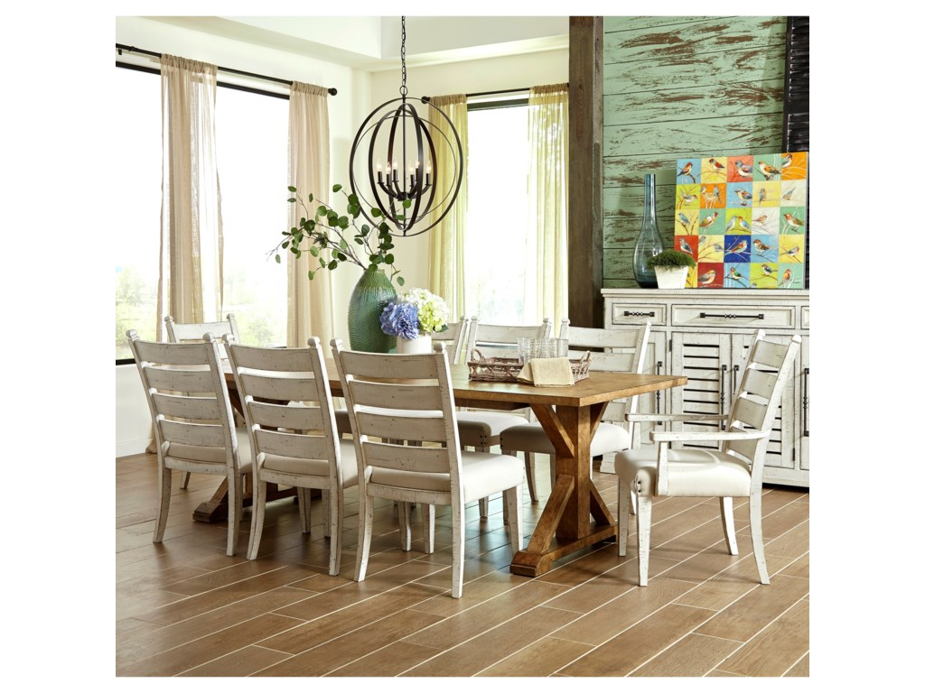b501705301dc Trisha Yearwood Home Collection by Klaussner Coming Home9 Pc Dining Group  ...