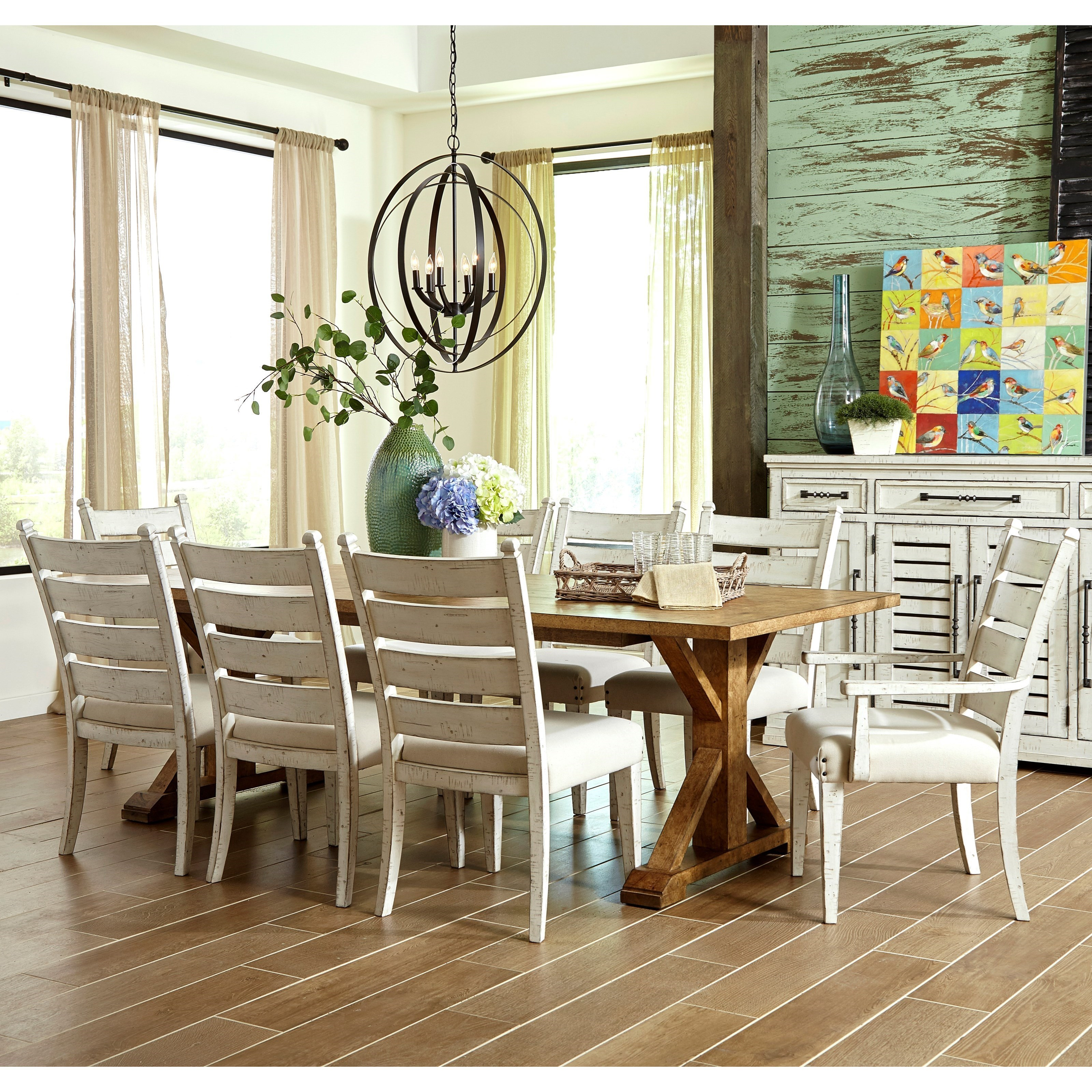 Trisha Yearwood Home Collection By Klaussner Coming Home9 Pc Dining Set ...