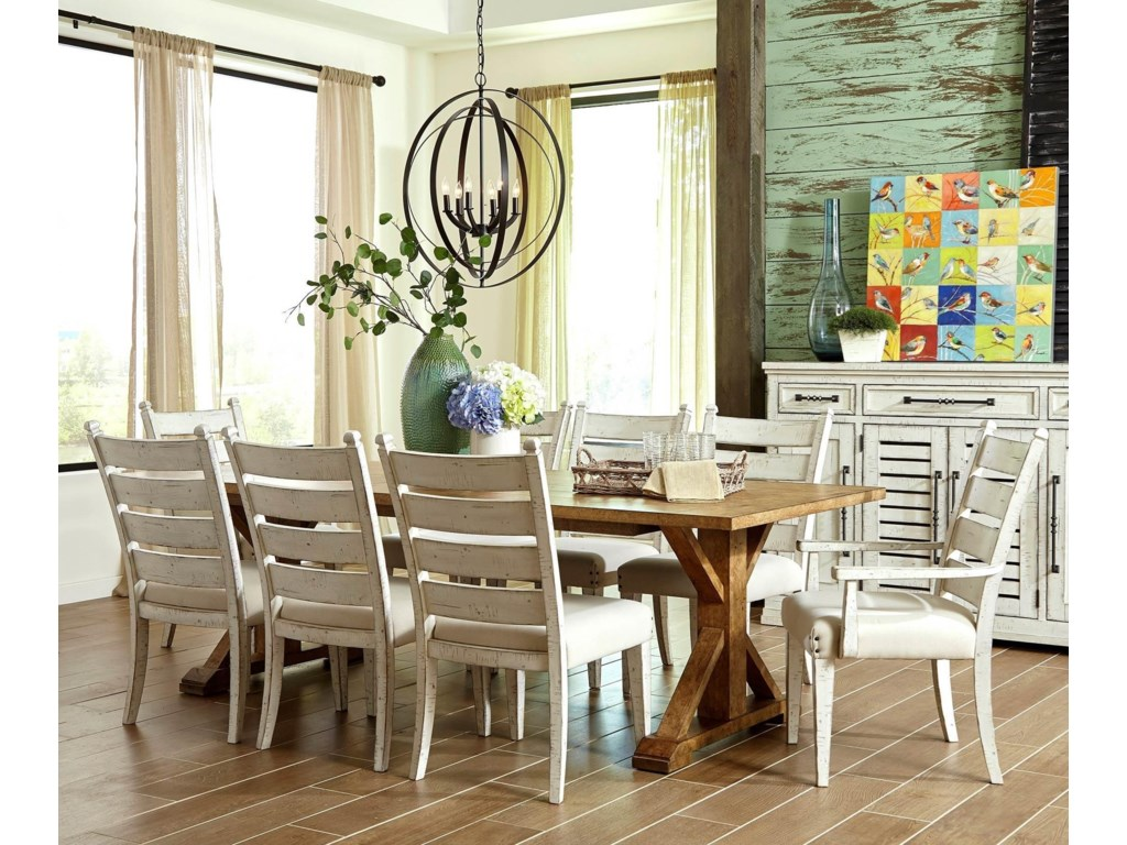 Trisha Yearwood Home Collection by Klaussner Coming Home7PC Dining Table & Chair Set