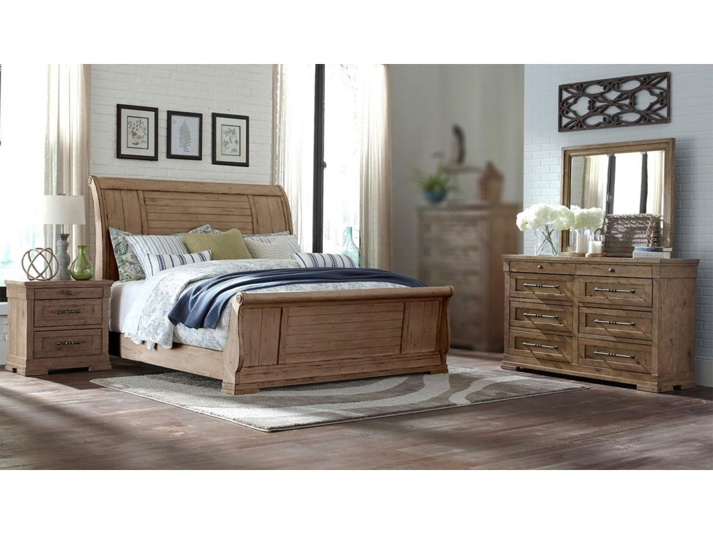 Trisha Yearwood Home Collection by Klaussner Coming Home4PC Queen Bedroom Set