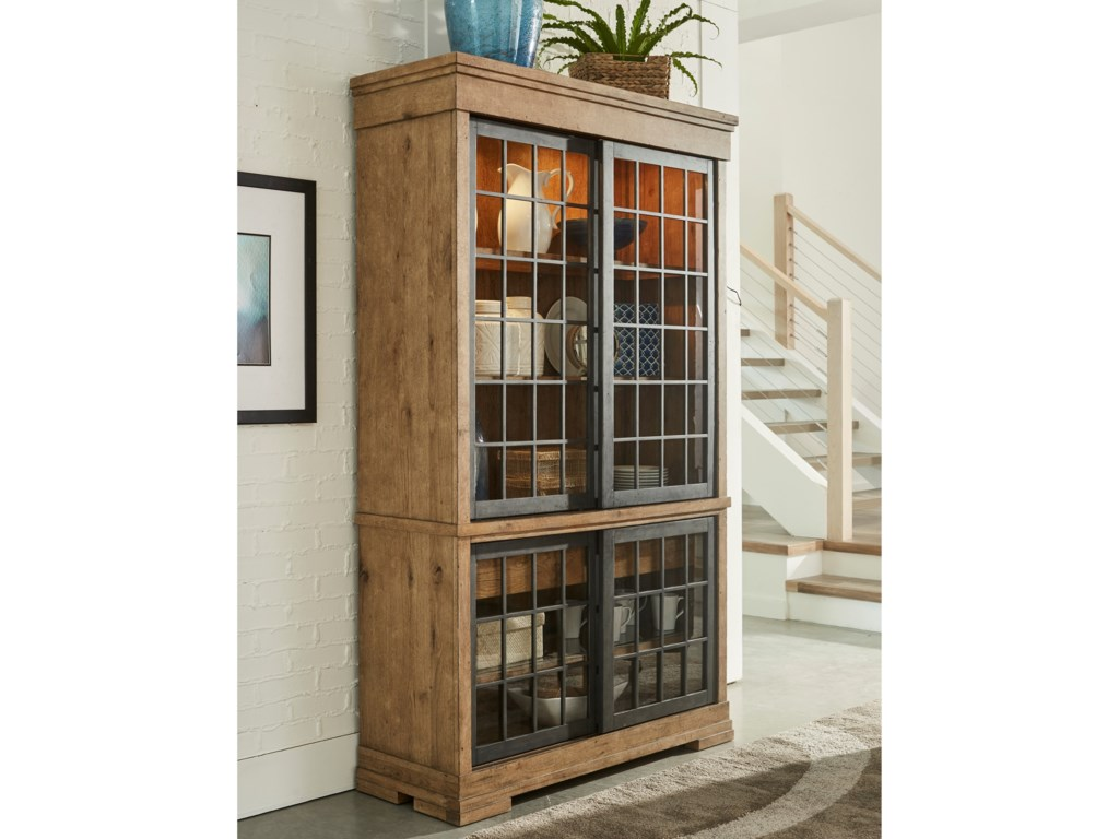 ff496630bf33 Trisha Yearwood Home Collection by Klaussner Coming Home Affection Display  Cabinet with Lighting and Sliding Glass Doors