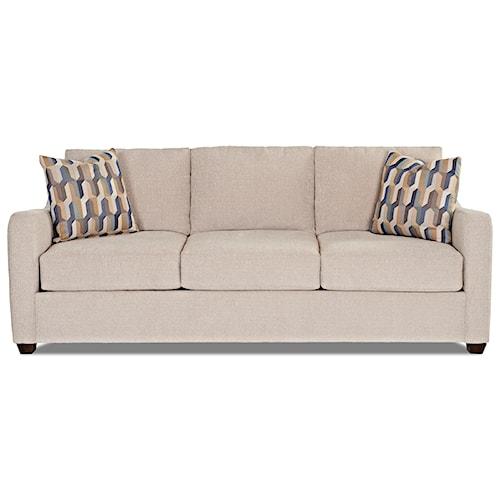 Klaussner Greer Air Coil Mattress Queen Sleeper Sofa