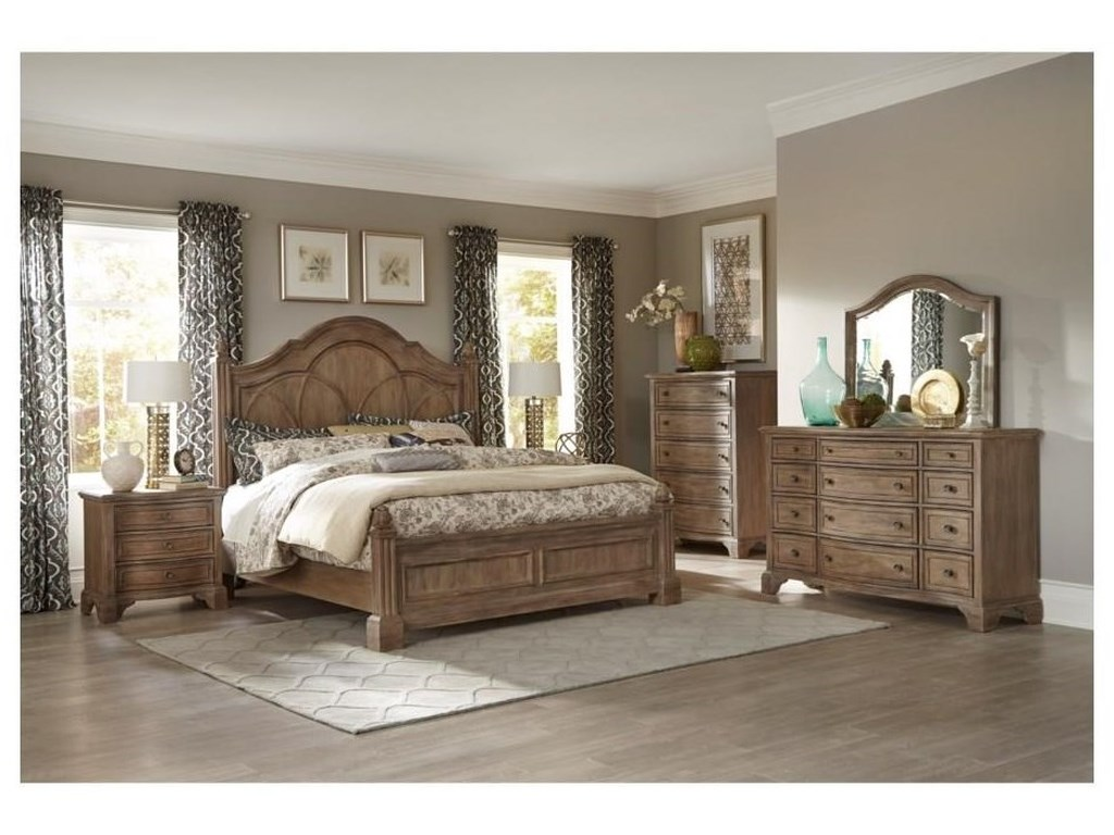 Trisha Yearwood Home Collection by Klaussner Jasper CountyQueen Panel Bed Package