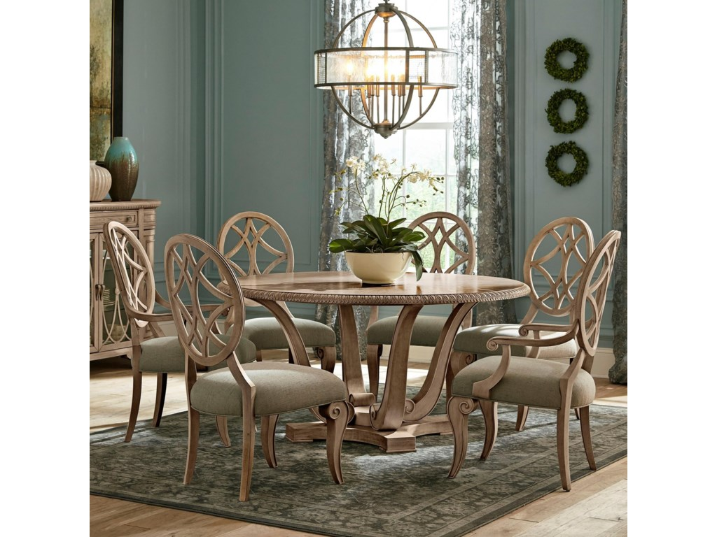 29c75fbf7b77 Trisha Yearwood Home Collection by Klaussner Jasper County7 Pc Dining Set  ...