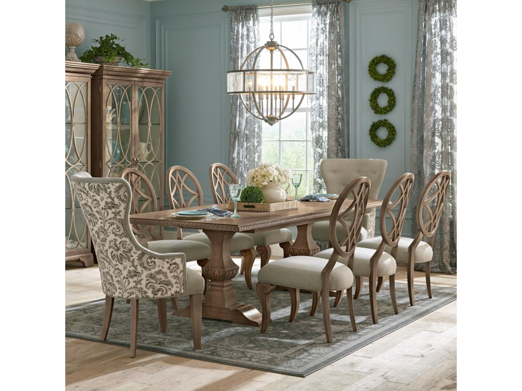 e620fe48ebd0 Trisha Yearwood Home Collection by Klaussner Jasper County9 Pc Dining Set  ...