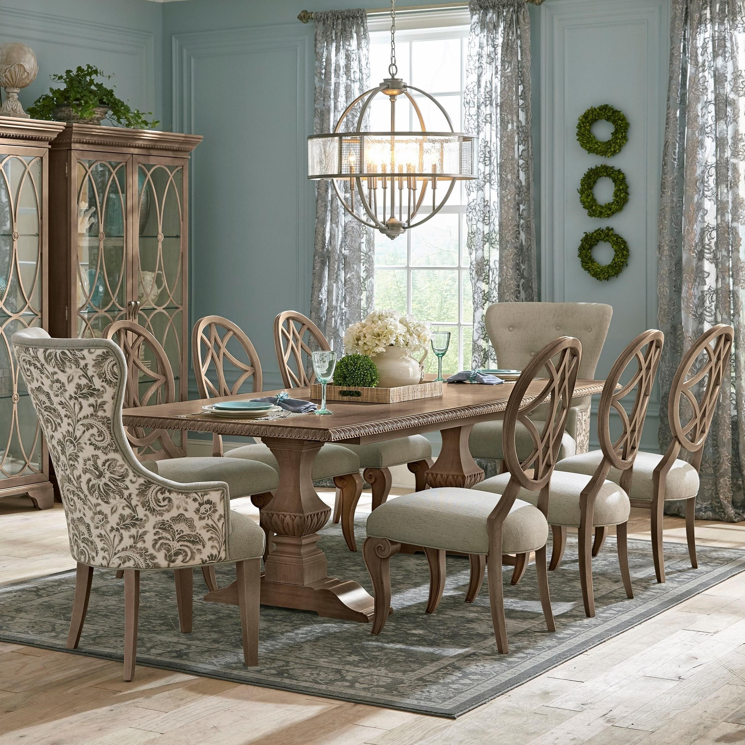 Trisha Yearwood Home Collection By Klaussner Jasper County9 Pc Dining Set  ...