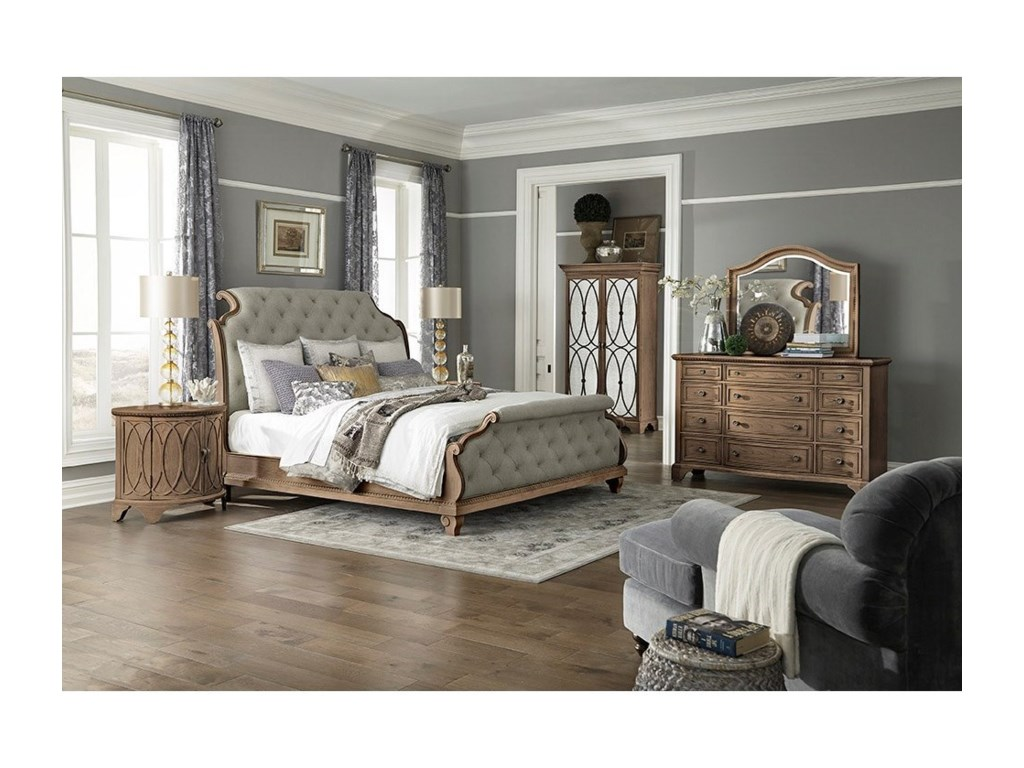 Trisha Yearwood Home Collection by Klaussner Jasper CountyDresser + Mirror Set