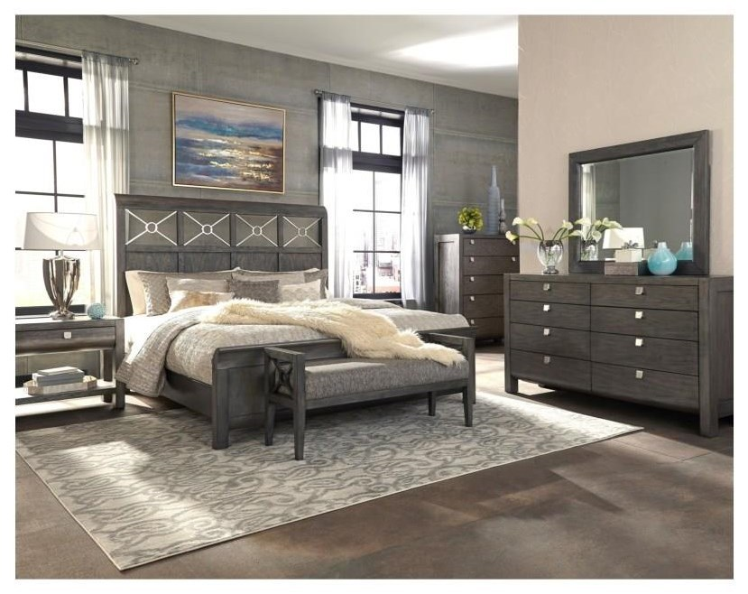 Trisha Yearwood Home Collection By Klaussner Music City Queen 6 Piece  Bedroom Group