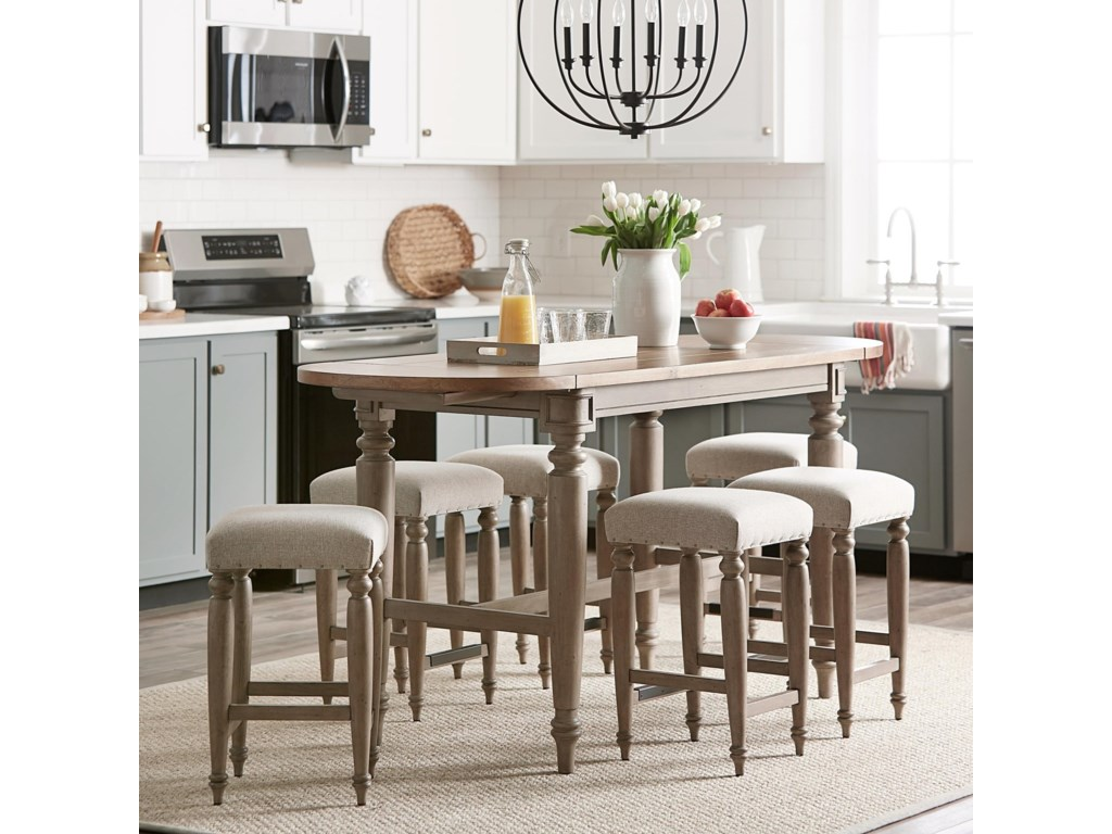 Trisha Yearwood Home Collection by Klaussner Nashville7-Piece Counter Height Dining Set