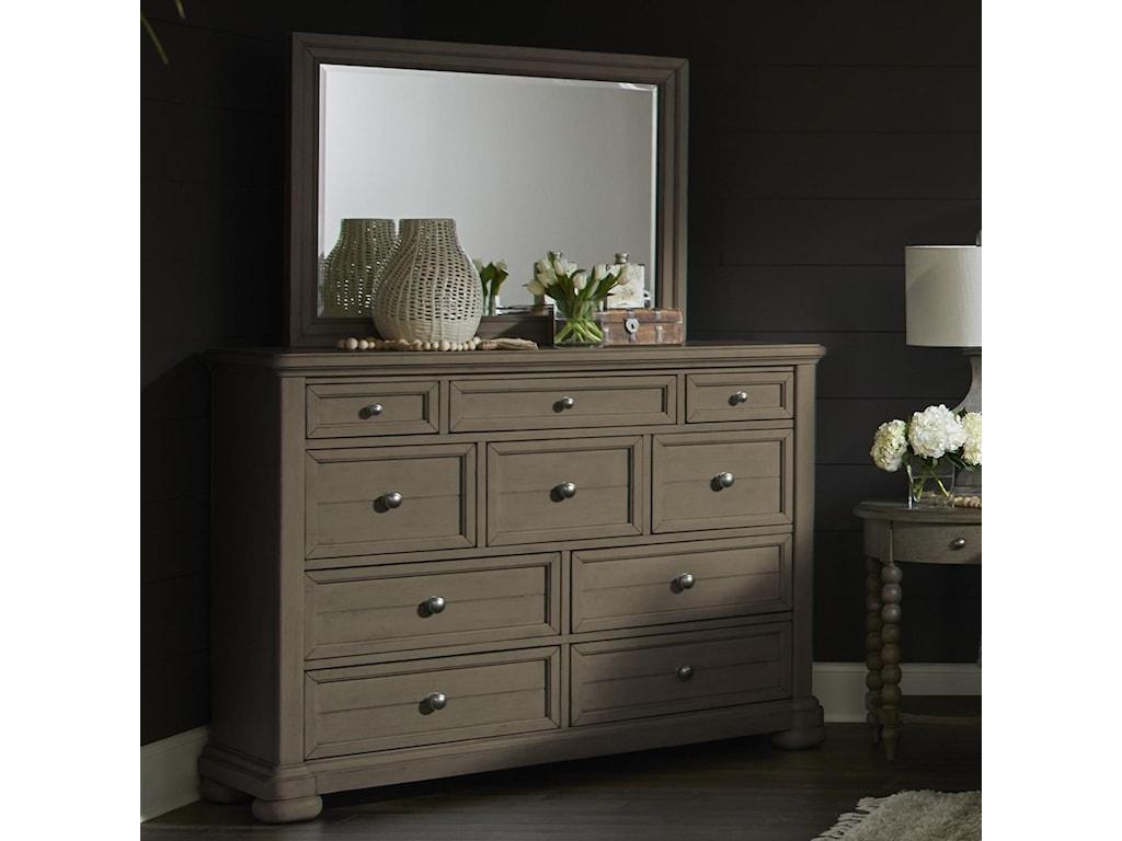 Trisha Yearwood Home Collection by Klaussner NashvilleDresser + Mirror Set