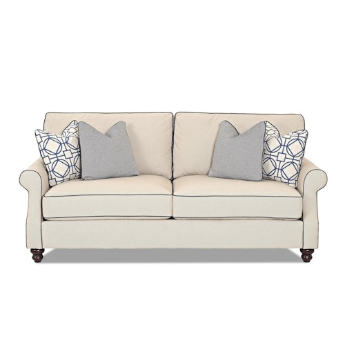 Trisha Yearwood Home Tifton Traditional Sofa with Rolled Arms