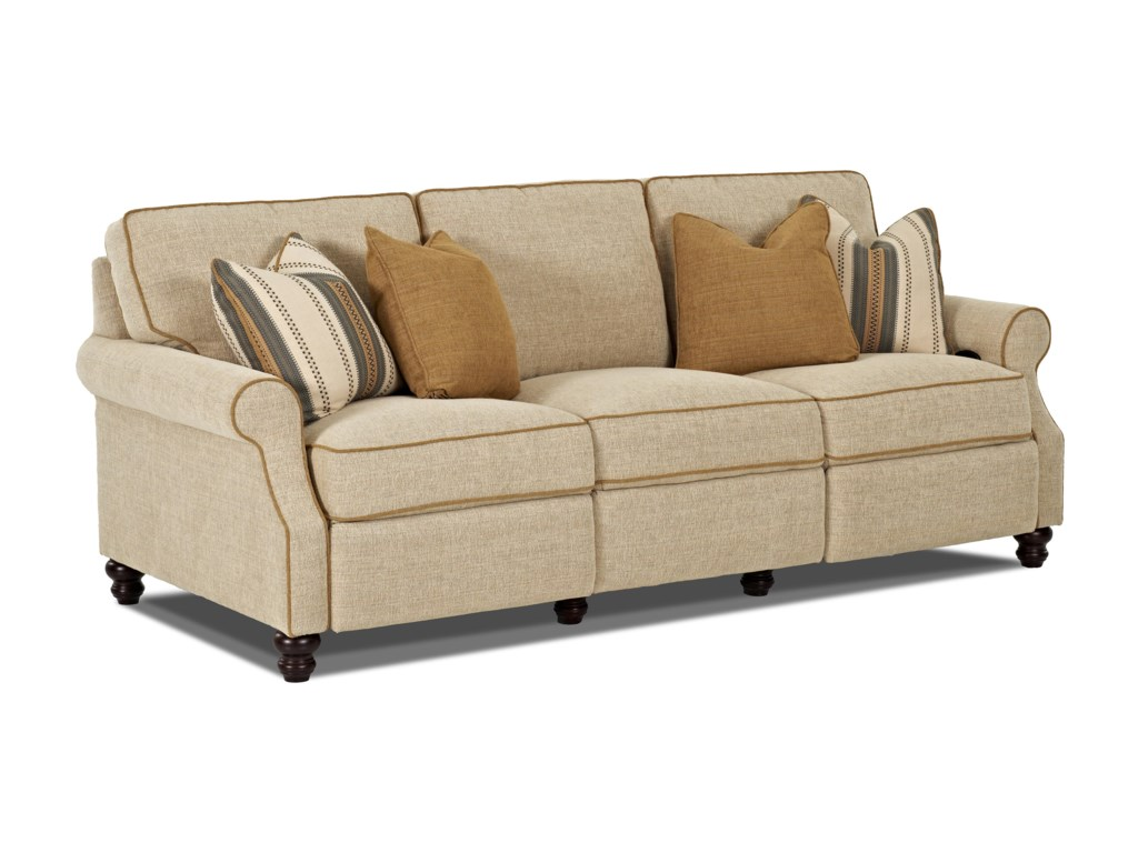 Trisha Yearwood Home Collection By Klaussner Tiftontraditional Reclining Sofa