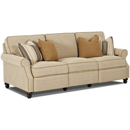 Trisha Yearwood Home Collection By Klaussner Tifton Traditional Hybrid Sofa