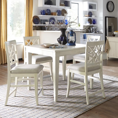 Trisha Yearwood Home Collection By Klaussner 5 Piece Counter Height Table And Chairs