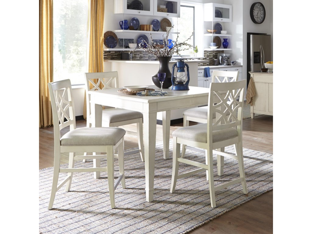 1c4238f1d827 Trisha Yearwood Home Collection by Klaussner Trisha Yearwood Home5 Piece  Counter Height Table and Chairs Set ...