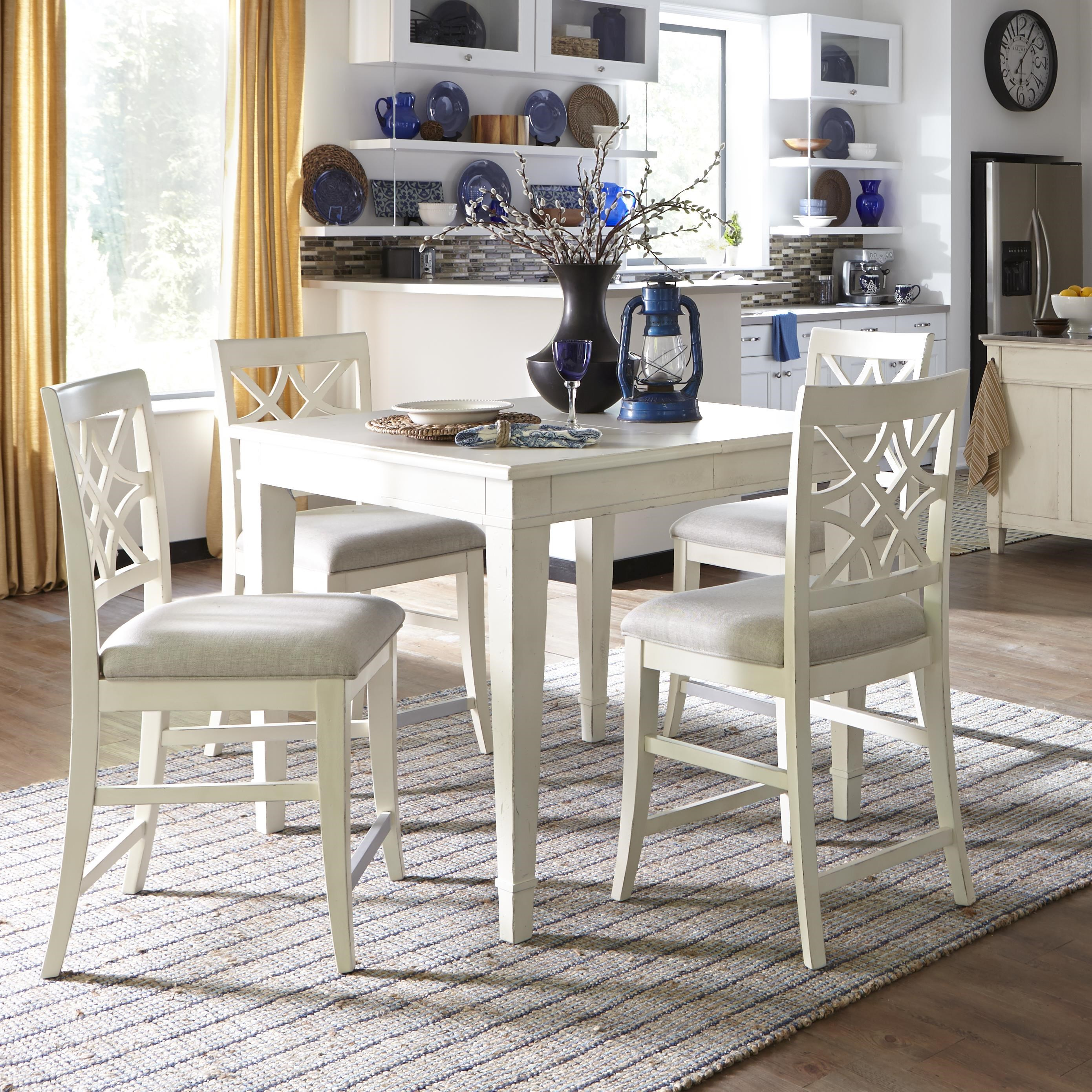 Beautiful Trisha Yearwood Home Collection By Klaussner Trisha Yearwood Home 5 Piece  Counter Height Table And Chairs