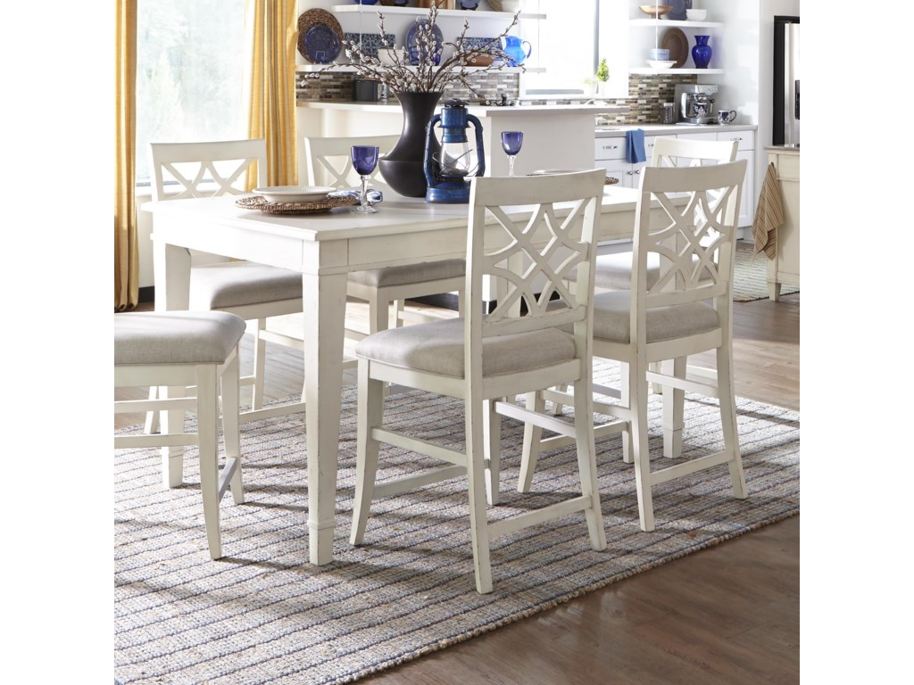 Trisha Yearwood Home Southern Kitchen Counter Height Table With 18 Inch Leaf By Trisha Yearwood Home Collection By Klaussner At Rotmans