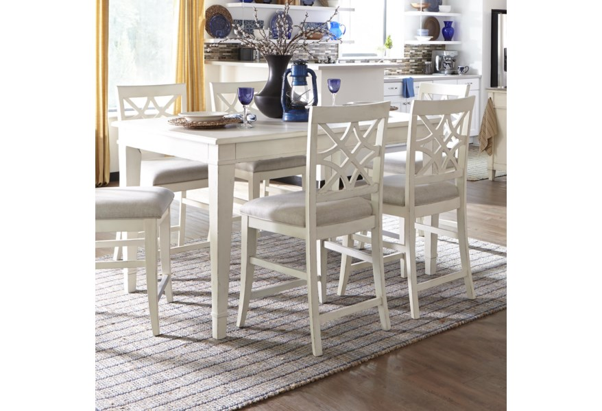 Trisha Yearwood Home Collection By Klaussner Trisha Yearwood Home Southern Kitchen Counter Height Table With 18 Inch Leaf Dream Home Interiors Pub Tables