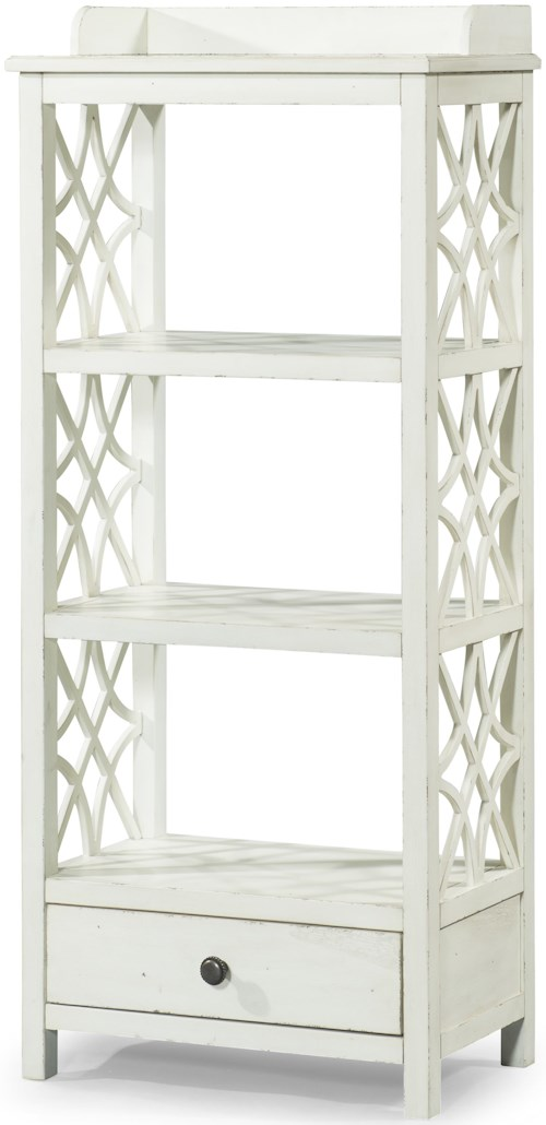 Trisha Yearwood Home Collection by Klaussner Trisha Yearwood Home Honeysuckle Etagere with Shelf and Drawer Storage