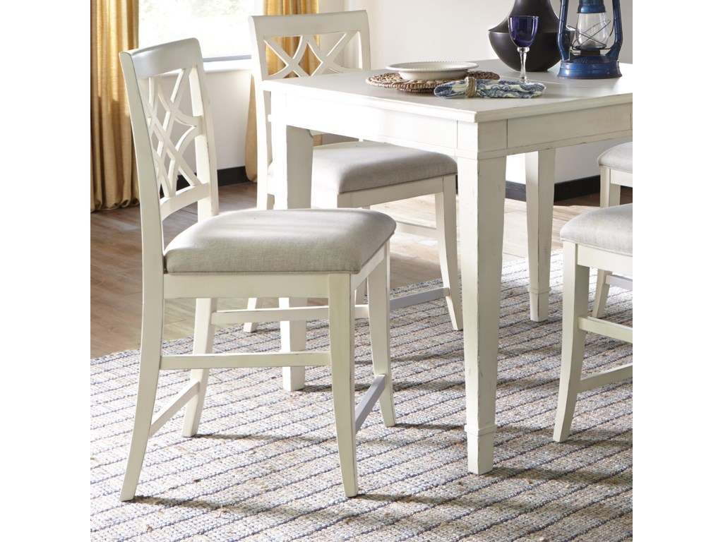 Trisha Yearwood Home Nashville Counter Height Chair With Lattice Back By Trisha Yearwood Home Collection By Klaussner At Rotmans