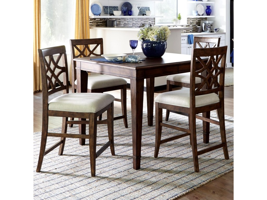 Trisha Yearwood Home 5 Piece Counter Height Table And Chairs Set By Trisha Yearwood Home Collection By Klaussner At Furniture Barn