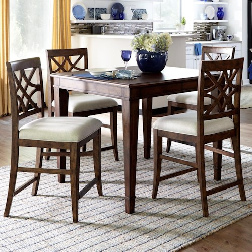 Trisha Yearwood Home Collection by Klaussner Trisha Yearwood Home 5 Piece Counter Height Table and Chairs Set
