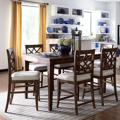 Trisha Yearwood Home Trisha Yearwood Home 7 Piece Counter Height Table and Chairs Set