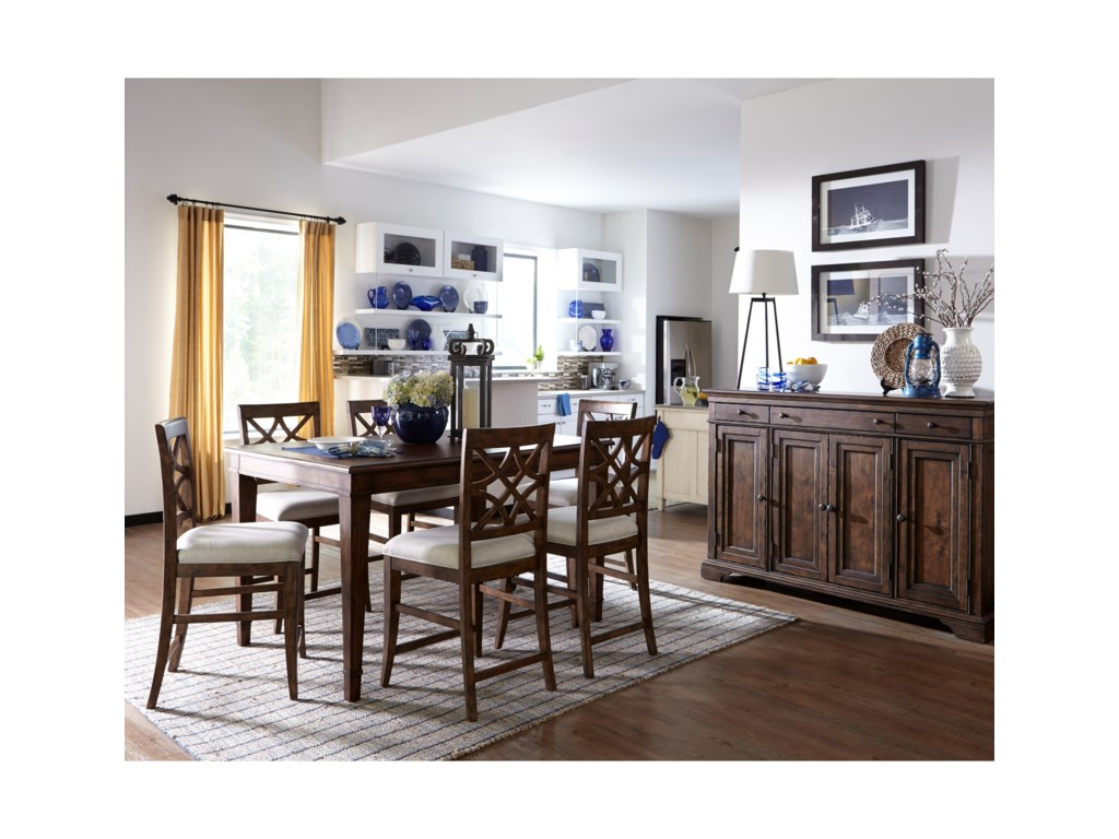 Trisha Yearwood Home Collection by Klaussner Trisha Yearwood Home7 Piece Counter Height Table and Chairs Set