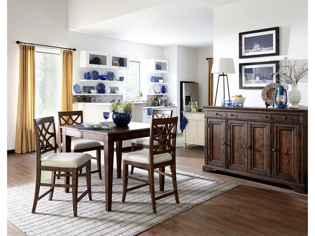 Trisha Yearwood Home Collection by Klaussner Trisha Yearwood Home5PC Counter Height Dining Set
