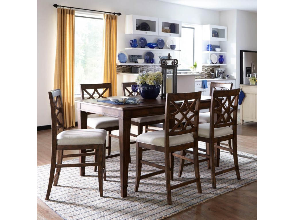 Trisha Yearwood Home Collection by Klaussner Trisha Yearwood Home7PC Counter Height Table & Stool Set