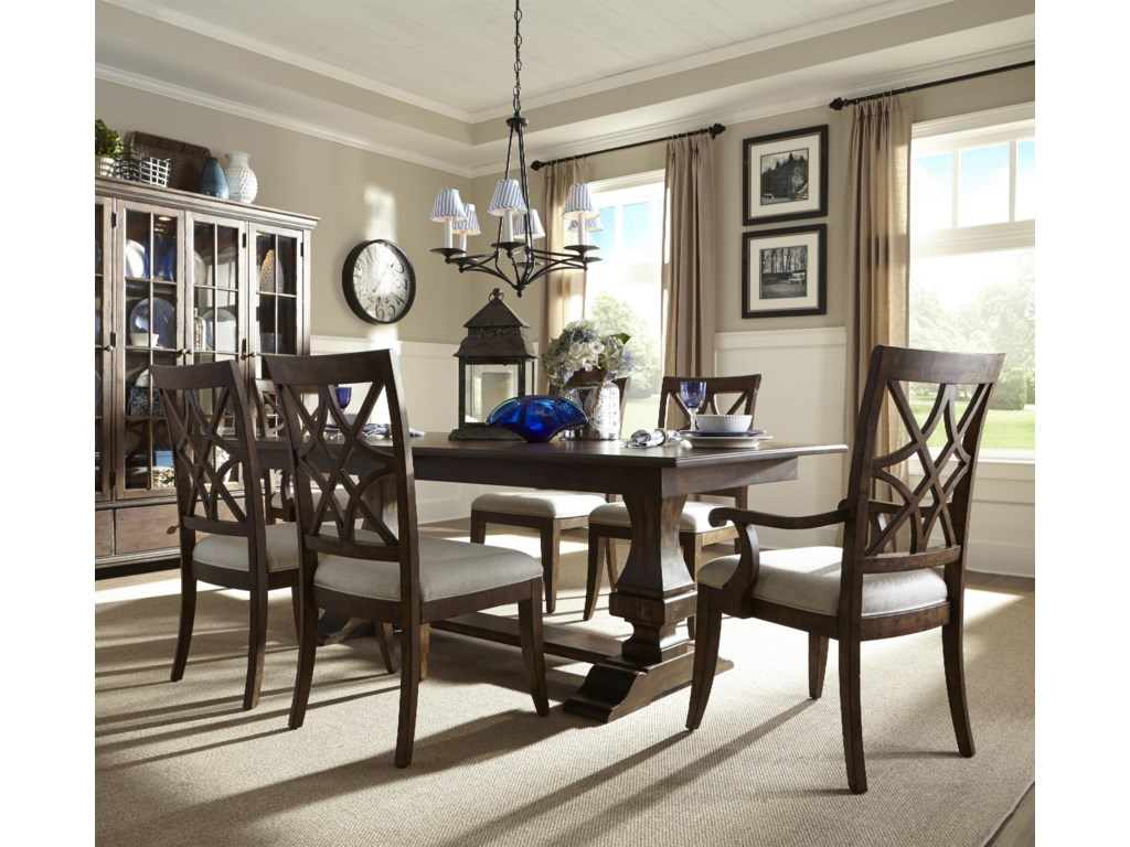 Trisha Yearwood Home Trestle Table and Chairs Set