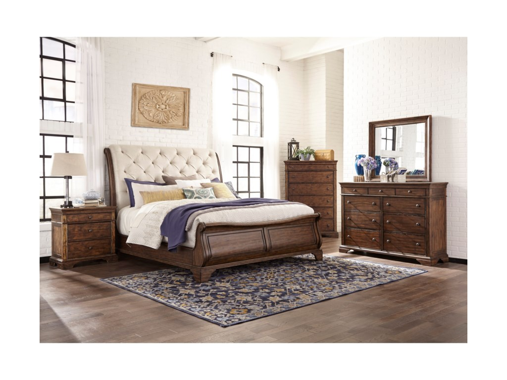 Trisha Yearwood Home Collection by Klaussner Trisha Yearwood HomeDottie King Upholstered Sleigh Bed
